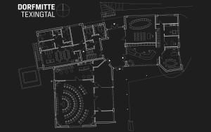Plan der neuen Dorfmitte Texingtal